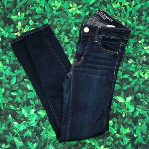 American Eagle Denim Jeans Jeggings 00 Short